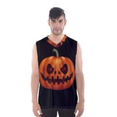 Halloween Pumpkin Men s Basketball Tank Top