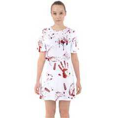 Massacre  Sixties Short Sleeve Mini Dress