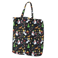 Christmas Pattern Giant Grocery Zipper Tote