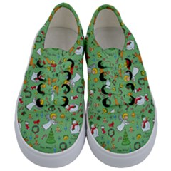 Christmas Pattern Kids  Classic Low Top Sneakers