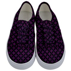 Circles3 Black Marble & Purple Leather Kids  Classic Low Top Sneakers