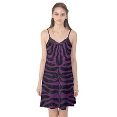 Skin2 Black Marble & Purple Leather (r) Camis Nightgown