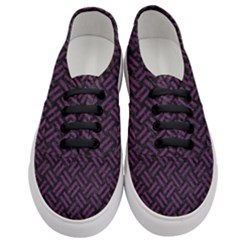 Woven2 Black Marble & Purple Leather (r) Women s Classic Low Top Sneakers