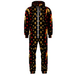 Pumkin Witch In Candles And White Magic Hooded Jumpsuit (men)