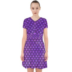 Scales2 Black Marble & Purple Watercolor Adorable In Chiffon Dress