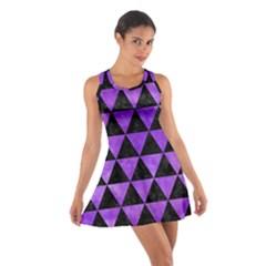 Triangle3 Black Marble & Purple Watercolor Cotton Racerback Dress