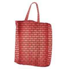 Brick1 Black Marble & Red Brushed Metal Giant Grocery Zipper Tote