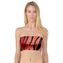 Skin3 Black Marble & Red Brushed Metal Bandeau Top