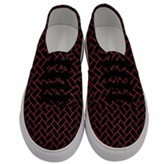 Brick2 Black Marble & Red Colored Pencil (r) Men s Classic Low Top Sneakers
