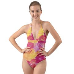 No 136 Halter Cut Out One Piece Swimsuit