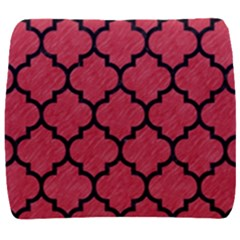 Tile1 Black Marble & Red Colored Pencil Back Support Cushion