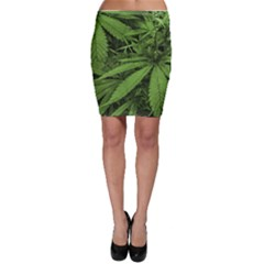 Marijuana Plants Pattern Bodycon Skirt