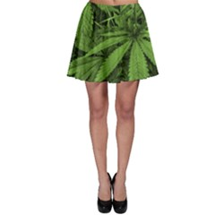 Marijuana Plants Pattern Skater Skirt