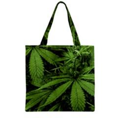 Marijuana Plants Pattern Grocery Tote Bag