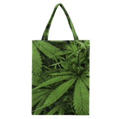 Marijuana Plants Pattern Classic Tote Bag