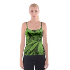 Marijuana Plants Pattern Spaghetti Strap Top