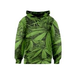 Marijuana Plants Pattern Kids  Pullover Hoodie