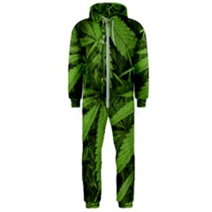 Marijuana Plants Pattern Hooded Jumpsuit (men)