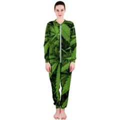 Marijuana Plants Pattern Onepiece Jumpsuit (ladies)