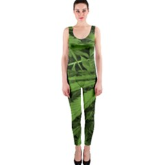 Marijuana Plants Pattern Onepiece Catsuit