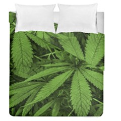 Marijuana Plants Pattern Duvet Cover Double Side (queen Size)