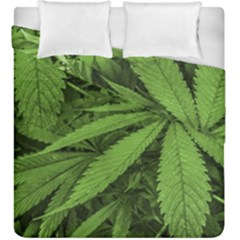 Marijuana Plants Pattern Duvet Cover Double Side (king Size)