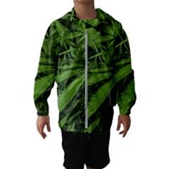 Marijuana Plants Pattern Hooded Wind Breaker (kids)
