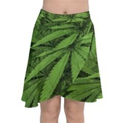 Marijuana Plants Pattern Chiffon Wrap