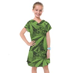 Marijuana Plants Pattern Kids  Drop Waist Dress