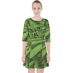 Marijuana Plants Pattern Pocket Dress