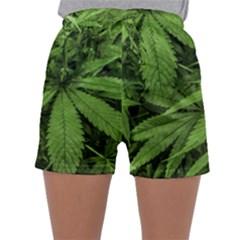 Marijuana Plants Pattern Sleepwear Shorts