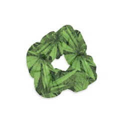 Marijuana Plants Pattern Velvet Scrunchie