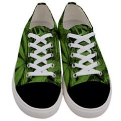 Marijuana Plants Pattern Women s Low Top Canvas Sneakers