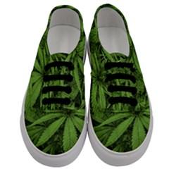 Marijuana Plants Pattern Men s Classic Low Top Sneakers