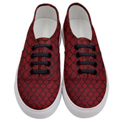Scales1 Black Marble & Red Grunge Women s Classic Low Top Sneakers