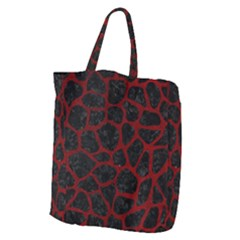Skin1 Black Marble & Red Grunge Giant Grocery Zipper Tote