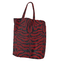 Skin2 Black Marble & Red Grunge Giant Grocery Zipper Tote