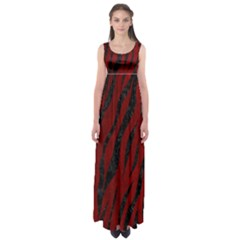 Skin3 Black Marble & Red Grunge Empire Waist Maxi Dress