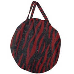 Skin3 Black Marble & Red Grunge (r) Giant Round Zipper Tote