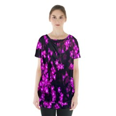 Abstract Background Purple Bright Skirt Hem Sports Top