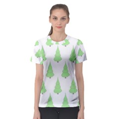 Background Christmas Christmas Tree Women s Sport Mesh Tee