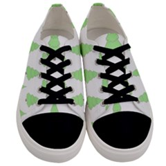 Background Christmas Christmas Tree Men s Low Top Canvas Sneakers