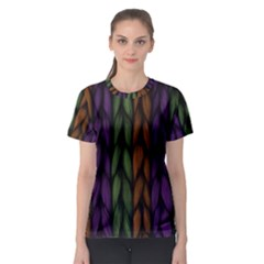Background Weave Plait Purple Women s Sport Mesh Tee