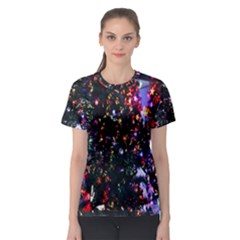 Abstract Background Celebration Women s Sport Mesh Tee