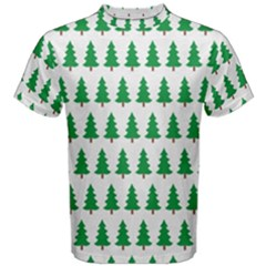 Christmas Background Christmas Tree Men s Cotton Tee