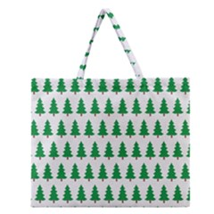 Christmas Background Christmas Tree Zipper Large Tote Bag