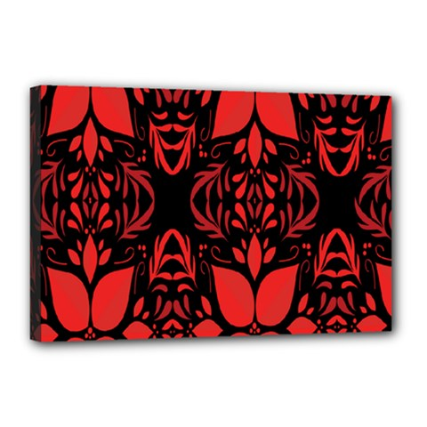 Christmas Red And Black Background Canvas 18  X 12