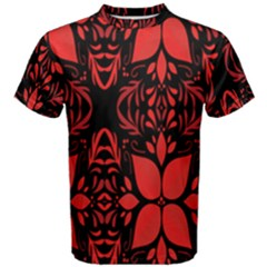 Christmas Red And Black Background Men s Cotton Tee