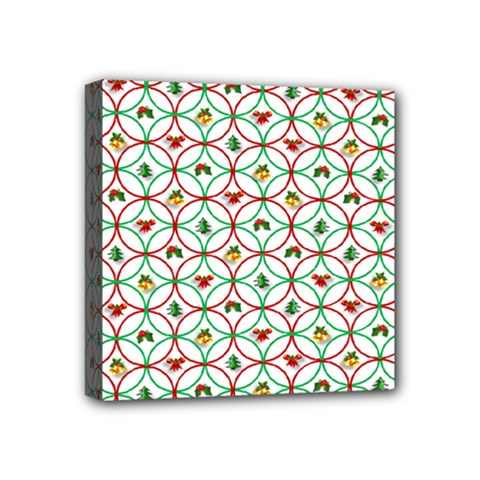 Christmas Decorations Background Mini Canvas 4  X 4