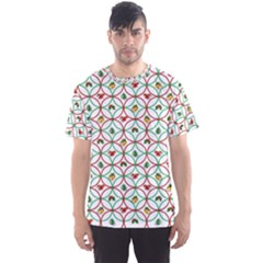 Christmas Decorations Background Men s Sports Mesh Tee